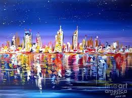 river city painting painting city skyline by night by the swan river western by river city river city painting