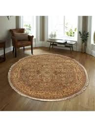 circle area rug fl hand knotted light brown gold round rug 9 x white circle area