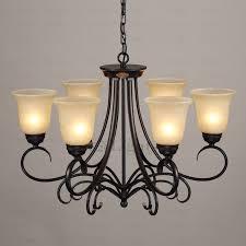 rustic 6 light glass shade twig black wrought iron chandelier inside chandeliers decor 5