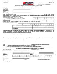 Loan Application Form Dhfl Home Loan Application Form Download