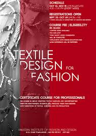 Textile Designing Course Details Pifd Pakistan Institute Of Fashion And Design