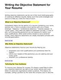 What Is A Resume Beauteous Whats A Good Objective For A Resume Beautiful Sample Career