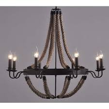 large industrial farmhouse iron chandelier light edison bar restaurant include 8 free bulbs