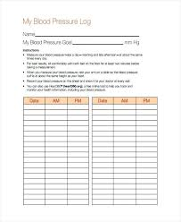 Blood Pressure And Pulse Chart Template Blood Pressure Log Chart Naveshop Co