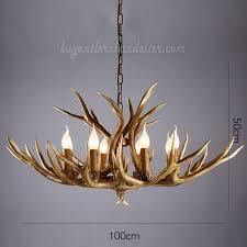 elk 8 cast antler chandelier cascade