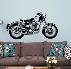 royal enfield motorbike wall art sticker classic english motorcycle decal boy room sport mural on motorbike wall art australia with royal enfield motorbike wall art sticker classic english motorcycle
