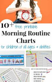 Morning Routine Printable Chart Morning Routine Chart Organized 31