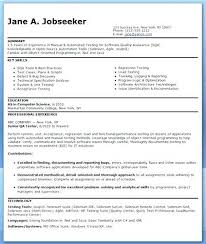 Qa Sample Resume New Qa Tester Sample Resume Administrativelawjudge