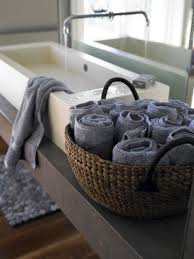 spa towel storage. We Think It\u0027s Got A Kind Of Spa Feel Going For It. Anyone Roll Their Extra Towels? How Else Do You Store Your Spares When You\u0027re Linen-closet-less? Towel Storage O