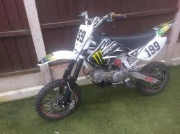 pit bike yx 140 pitbike 140cc crf 70 size frame in shirebrook