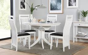 gallery hudson round white extending dining