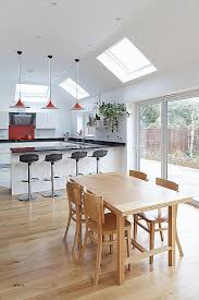 pitched ceiling lighting. Recessed Lighting Angled Ceiling Elegant Modern Kitchen Extension Breakfast Bar Stools Pitched