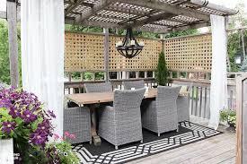 exterior home decor idea diy outdoor curtain rods for your gazebo or porch quick