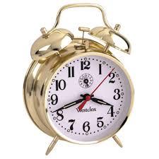 quartz og mute twin bell silver alarm clock with nightlight 4