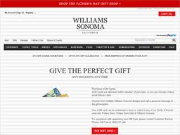 williams sonoma gift card balance
