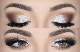 silver glitter eye makeup photo 1