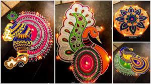 Rangoli Art Designs For Diwali Diwali Special Latest Unique Rangoli Design Ideas For Diwali 2018