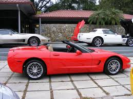 2002 Corvette Convertible, Torch Red w/ light oak leather interior ...