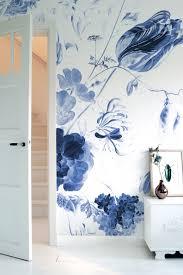 Behang Op Maat Blauwe Bloemen Wp 223 Behangopmaatcom