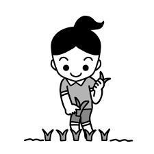 田植えをしている女子イラスト 無料イラスト素材素材ラボ