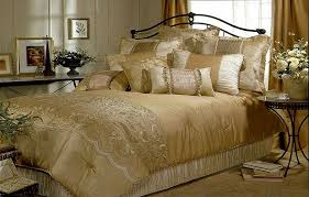 image of luxury gold comforter sets king