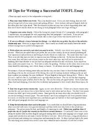 tips for writing a successful toefl essay essays test of 10 tips for writing a successful toefl essay essays test of english as a foreign language