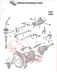 rebuilt m5r2 manual transmissions & parts ford mazda manual Ford Standard Transmission Diagrams m5r1 parts illustration page 1 Ford 5 Speed Transmission Diagram