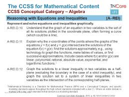 27 the ccss for mathematical content ccss conceptual algebra reasoning with equations and inequalities