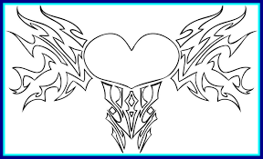 Amazing Cool Heart Coloring Pages Acpra Of For Inspiration And Trend