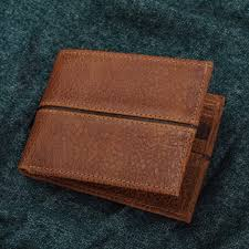 handmade leather wallet in brown from mexico sleek chic in brown