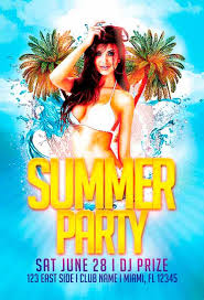 Free Summer Party Flyer Template Vol.2 | Awesomeflyer.com