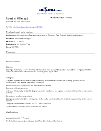 millwright resume examples highlights work experience - Millwright Resume  Example