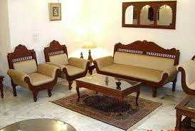 Sofa set designs for living room New Seater Carved Wooden Furniture Living Room Curtains Design Seater Carved Wooden Furniture Rs 180000 set Heritage India