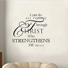 soledi wall decal i can do all things through christ who strengthens me wall decal quotes vinyl wall sticker mural art wall decor bedroom living room black on christian vinyl wall art quotes with soledi wall decal i can do all things through christ who strengthens