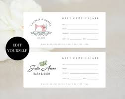 gift certificate for business gift voucher etsy