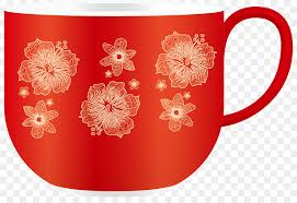 coffee cup red glass pattern