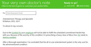 Flu Doctors Note Got Xbox Fever Try This Specially Designed Doctors Note To Ditch
