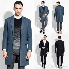 2018 fashion business mens peacoat black hemp blue single ted ons wool blends mens winter business coats stylish wool mens outwear from huifangzou
