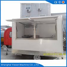 Mobile Kitchen Equipment Free Moving Mobile Food Trailer Easy Operation Beverage Cart