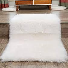 Faux sheepskin rugs Furry Faux Fur Rug White Soft Fluffy Rug 80 X150 Cm Shaggy Rugs Faux Sheepskin Rugs Floor Amazon Uk Faux Fur Rug White Soft Fluffy Rug 80 X150 Cm Shaggy Rugs Faux