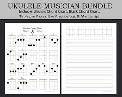 To play g major, place your middle finger on the second fret of the first string. Ukulele Sheet Music Etsy