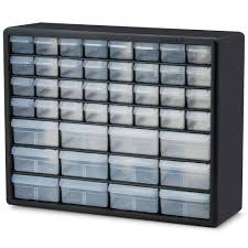44 compartment small parts nuts bolts organizer cabinet tool storage wall mount