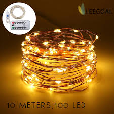 string lights for bedroom. Leegoal 10M 100 LED Fairy Lights USB Plug In With Remote Control Dimmable, Warm White String For Bedroom T