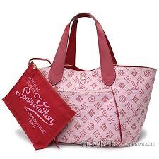 louis vuitton m95984 カバイパネマ pm beach line rose monogram cotton canvas x leather tote bag shoulder