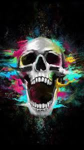 skull art wallpaper iphone 6