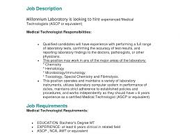 Wondrous Medical Technologist Resume Exquisite Sample The Best Of