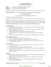 Retail Job Description For Resume Useful Retail Clothing Store Manager Job Description Store Manager 9