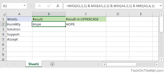 Excel Word Ms Excel How To Extract 1st 2nd 3rd 4th Letters From Words