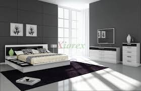 Draco Black and White Contemporary Bedroom Furniture Sets | Xiorex