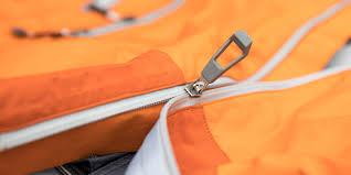 a jacket with a broken zipper